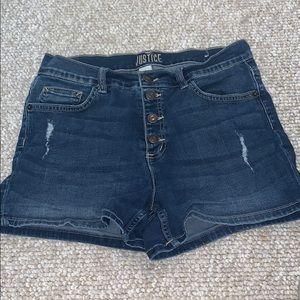 Justice Kids Plus Size Jean Shorts